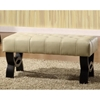 Central Park 36'' Tufted Leather Ottoman