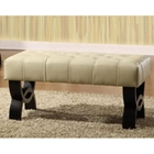 Central Park 36%27%27 Tufted Leather Ottoman