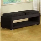 Cancun Microfiber Bench with Reversible Trays