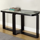 Callum Glass Top Console Table