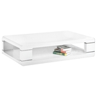 Corey Contemporary White Coffee Table