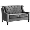 Barrister Velvet Fabric Loveseat with Button Tufting