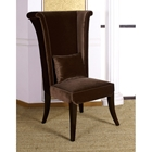 Mad Hatter Dining Chair in Deep Brown Velvet Fabric