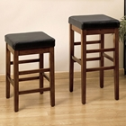 Sonata Stationary Leather Barstool