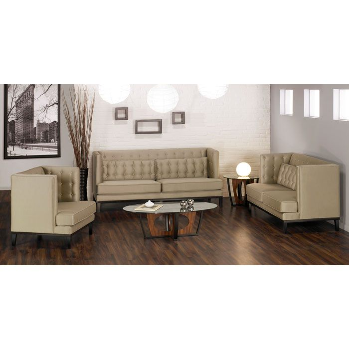Noho Chic Tufted Three Piece Sofa Set - AL-LC1006-3PC