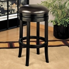 Brown Backless Swivel Barstool