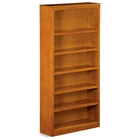 6-Tier Wooden Bookcase with Adjustable Shelves