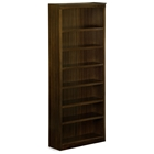 7-Tier Wooden Bookcase with Adjustable Shelves