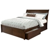 Bordeaux Platform Bed w/ Flat Panel Footboard and Drawers
