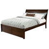 Bordeaux Sleigh Platform Bed w/ Flat Panel Footboard