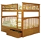 Columbia Full Slat Bunk Bed w/ Flat Panel Drawers - ATL-AB5551