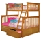 Columbia Bunk Bed w/ Flat Panel Drawers - Twin Over Full - ATL-AB5521