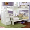 Columbia Full/Full Bunk Bed w/ Storage Stairs