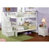 Columbia White Slatted Bunk Bedroom Set w/ Storage Stairs