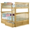 Columbia Wood Bedroom Set w/ Slatted Bunk Bed in Natural Maple - ATL-CWBSSBBNM