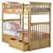 Columbia Twin Over Twin Bunk Bed w/ Raised Panel Drawers - ATL-AB5512