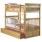 Columbia Twin Over Twin Bunk Bed w/ Trundle