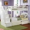 Columbia Stairway Bunk Bed w/ Raised Panel Drawers - Twin - ATL-AB5562