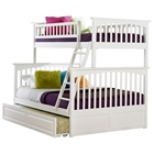 Columbia Twin Over Full Bunk Bed and Trundle