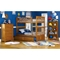 Columbia Wood Bedroom Set w/ Slatted Bunk Bed in Caramel Latte - ATL-CWBSSBBCL