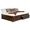 Concord Platform Bed w/ Flat Panel Footboard and Drawers