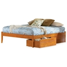 Concord Platform Bed w/ Open Footrail and Flat Panel Drawers