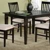 Deco 48 x 36 Solid Top Dining Table w/ Tapered Legs