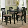 Deco 5 Piece Pub Set w/ 48 x 36 Table and Slat Back Chairs