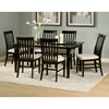 Deco 7 Piece Modern Dining Set w/ Rectangular Wood Table