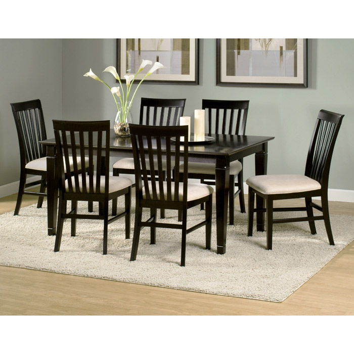 Deco 7 Piece Modern Dining Set w/ Rectangular Wood Table - ATL-DE60X36SDT7PC