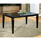 Deco 60 x 36 Solid Top Dining Table w/ Tapered Legs