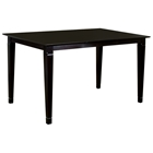 Deco 60 x 36 Solid Top Pub Table w/ Tapered Legs