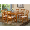 Deco Butterfly Extension Dining Table w/ 6 X-Back Chairs
