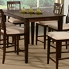 Deco 54 x 54 Modern Pub Table w/ Butterfly Leaf Extension