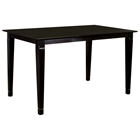 Deco 54 x 54 Modern Dining Table w/ Butterfly Leaf Extension