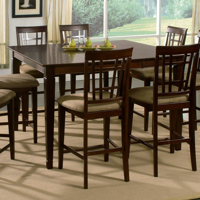 Deco 7 Piece Pub Set w/ Butterfly Extension Table - ATL-DE54X54BLPT7PC