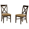 Lexington X-Back Dining Chair w/ Cappuccino Seat