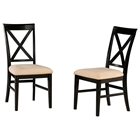 Lexington X-Back Dining Chair w/ Oatmeal Microfiber Seat