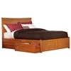 Miami Platform Bed w/ Flat Panel Footboard and Drawers