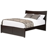 Milano Platform Sleigh Bed w/ Flat Panel Footboard