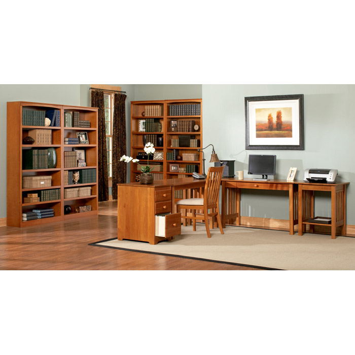 7-Tier Wooden Bookcase with Adjustable Shelves - ATL-H-8007