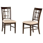 Montego Bay Lattice Back Dining Chair w/ Oatmeal Seat