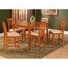 Montreal Butterfly Extension Pub Table and Mission Pub Chairs Set