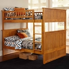 Nantucket Full Size Bunk Bed w/ Beadboard Detail