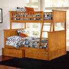 Nantucket Twin Over Full Bunk Bed w/ Drawers - Flat Panel