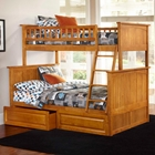 Nantucket Twin Over Full Bunk Bed w/ Drawers - Raised Panel