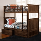 Nantucket Twin Size Bunk Bed w/ Drawers - Raised Panel