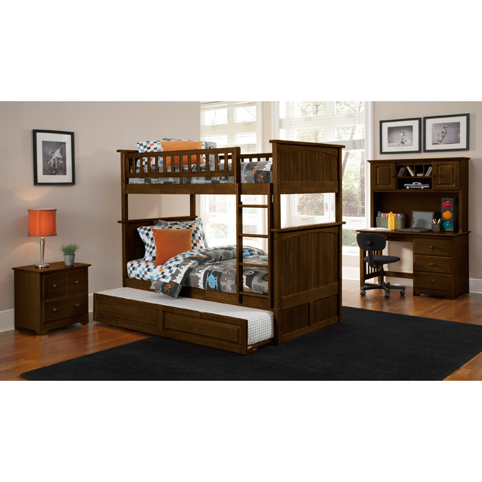 Nantucket Cottage Style Bunk Bed and Trundle - Twin - ATL-AB5913