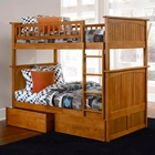 Nantucket Twin Size Bunk Bed w/ Drawers - Flat Panel