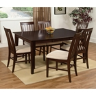 Shaker Butterfly Extension Dining Table w/ 6 Slat Back Chairs
